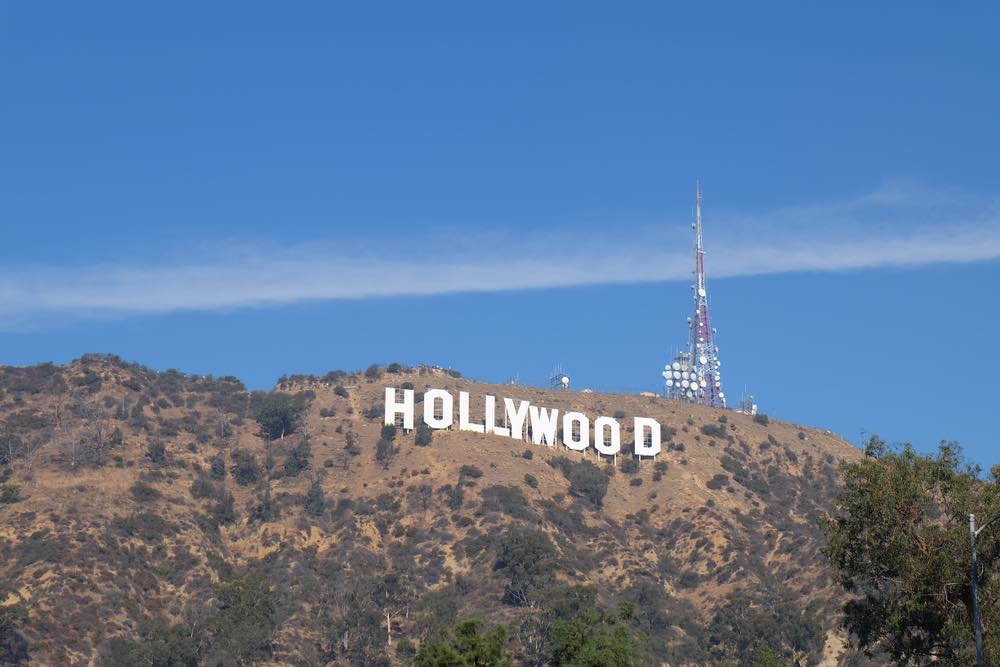 De witte letters van Hollywood