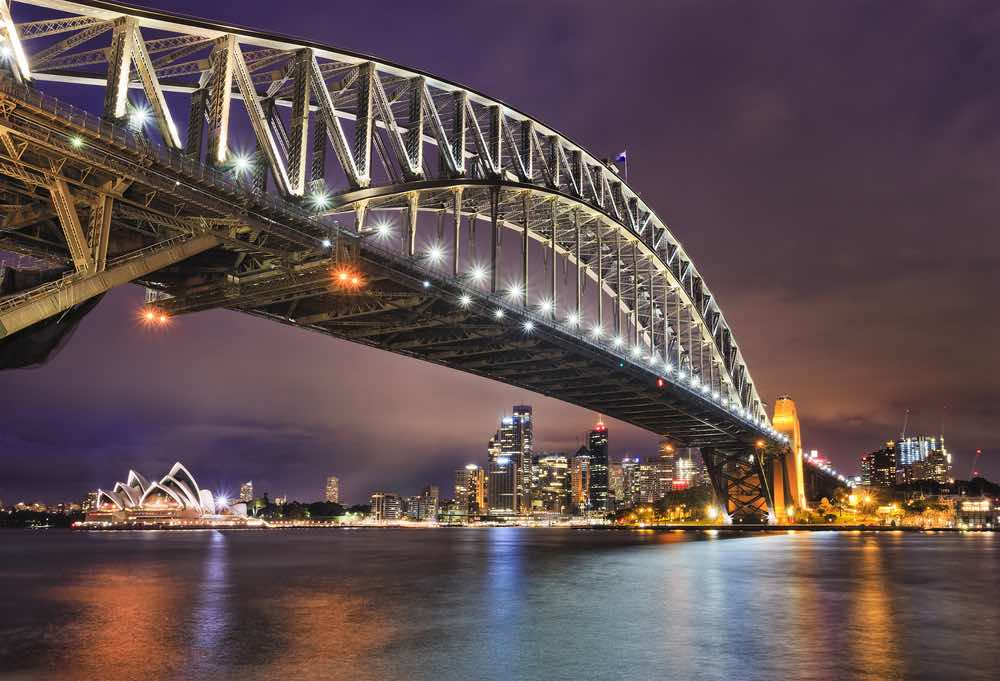 Harbour Bridge in de avond