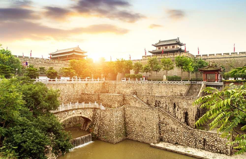 stadsmuur i'an china