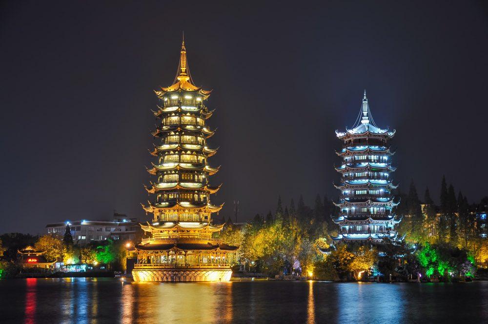 zon en maan pagodes